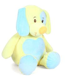 Starwalk Plush Dog Soft Toy Yellow Blue - Height 46 cm