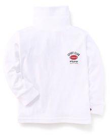 Ollypop Full Sleeves T-Shirt Sports Club Print - White