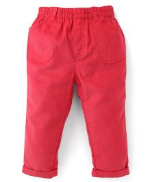 ToffyHouse Full Length Corduroy Trousers - Red