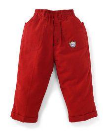Jash Kids Full Length Corduroy Pant - Red Orange
