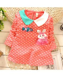 Tickles 4 U Polka Dot Dress - Pink