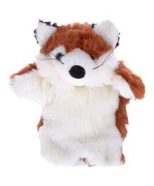 Twisha Nx Fox Hand Puppet Brown & White - 25.4 cm