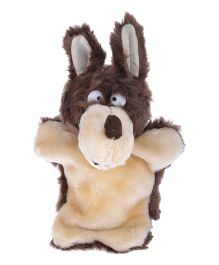 Twisha Nx Fox Hand Puppet Dark Brown & Cream - 25.4 cm