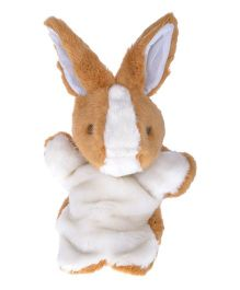 Twisha Nx Rabbit Hand Puppet Brown & White - 25.4 cm