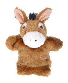 Twisha Nx Donkey Hand Puppet Brown - 25.4 cm