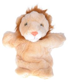 Twisha Hand Puppet Lion Cream And Brown - 25.4 cm