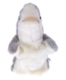 Twisha Hand Puppet Shark White And Grey - 25 cm