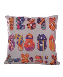 Twisha Numbers Print Pillow - Multicolour