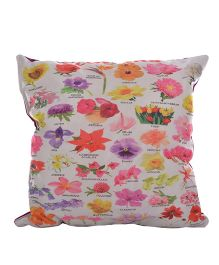 Twisha NX Flower Printed Pillow - Multicolor