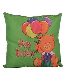 Twisha Happy Birthday Printed Cushion - Green