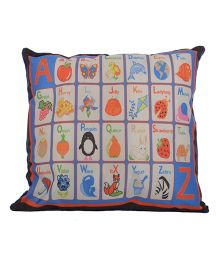 Twisha NX Alphabets Printed Pillow - Multicolor