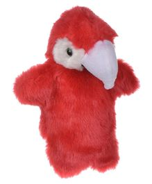 Twisha Hand Puppet Parrot Red - 25 cm