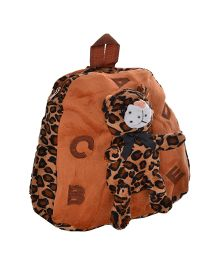Twisha Nursery Bag Cheetah Applique Brown - 13 Inch