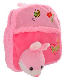 Twisha Nursery Bag With Rabbit Applique Pink - 12 Inch