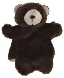 Twisha Hand Puppet Bear Dark Soft Toy Brown - 25.4 cm