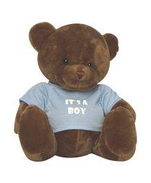 Twisha NX Bear With T Shirt It's A Boy Large - Brown