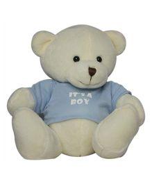 Twisha NX Bear With T Shirt It's A Boy Large - Cream