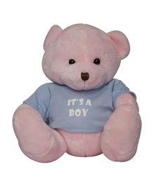 Twisha NX Bear With T Shirt It's A Boy Large - Pink