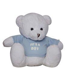 Twisha NX Bear With T Shirt It's A Boy Large - White