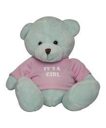 Twisha NX Bear With T Shirt It's A Girl Large - Blue