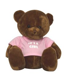 Twisha NX Bear With T Shirt It's A Girl Large - Brown
