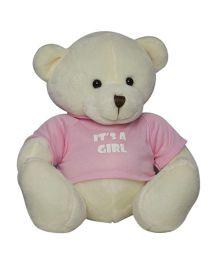 Twisha NX Bear With T Shirt It's A Girl Large - Cream