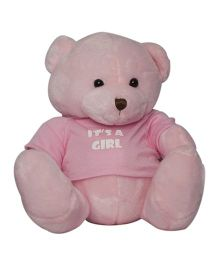 Twisha NX Bear With T Shirt It's A Girl Large - Pink