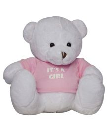Twisha NX Bear With T Shirt It's A Girl Large - White