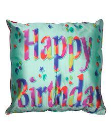 Twisha Happy Birthday Cushion - Blue