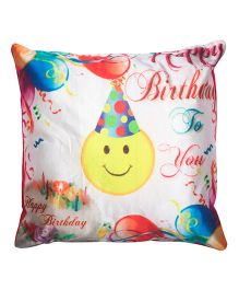 Twisha Happy Birthday Smile With Cap Cushion - Multi Color