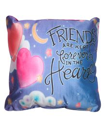 Twisha NX Friends With Heart Printed Pillow - Blue