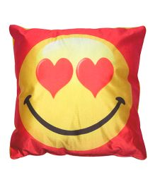 Twisha Smile With Heart Cushion - Red