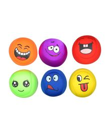 Twisha Lycra Smiley Balls Multi Color - Set Of 6