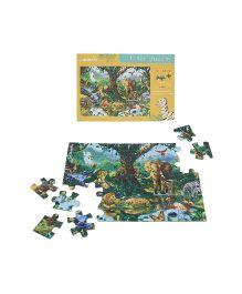 JackInTheBox Jungle Safari 6 In 1 Puzzle Game - Multicolor