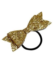 D'Chica Shimmer And Shine Bow Rubber Band - Golden