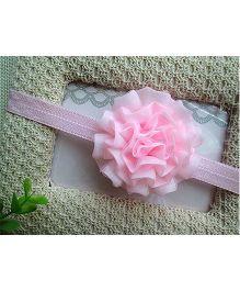 Little Cuddle Double Layered Silk Flower Headband - Light Pink