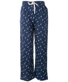 The Cranberry Club Palm Tree Print Girls Pajama - Blue
