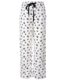 The Cranberry Club Mustache Print Boys Pajama - White & Black