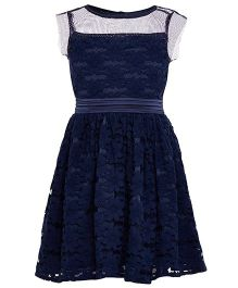 The Cranberry Club Lace Fabric Dress - Dark Blue