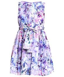 The Cranberry Club Floral Dress - Purple