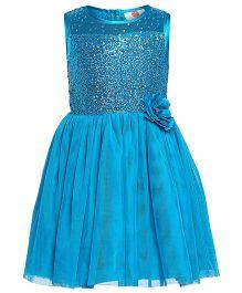 The Cranberry Club Sequined Yoke Tutu Dress - Blue