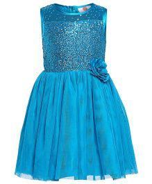 The Cranberry Club Sequined Yoke Tutu Dress - Blue