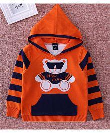 Pre Order - Superfie Teddy Bear Hoodie Sweater - Orange