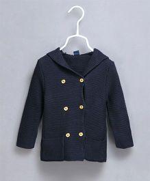 Pre Order - Superfie Party Wear Winter Coat - Blue