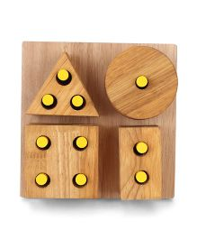 Little Genius Wooden Shape & Stacking Board