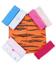 Ben Benny Multi Printed Napkins Set of 8 - Multicolour