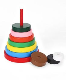 Little Genius Wooden Tower Circle - Multicolor