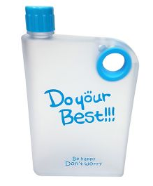 Thought Counts Do Your Best Water Bottle - Blue