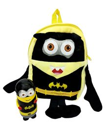 Thought Counts Super Combo Of Cartoon Character Bag & Hot & Cold Flask - Black & Yellow