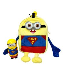 Thought Counts Super Combo Of Cartoon Character Bag & Flask Set - Yellow & Blue